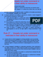 Rule 27 - Vessels NUC