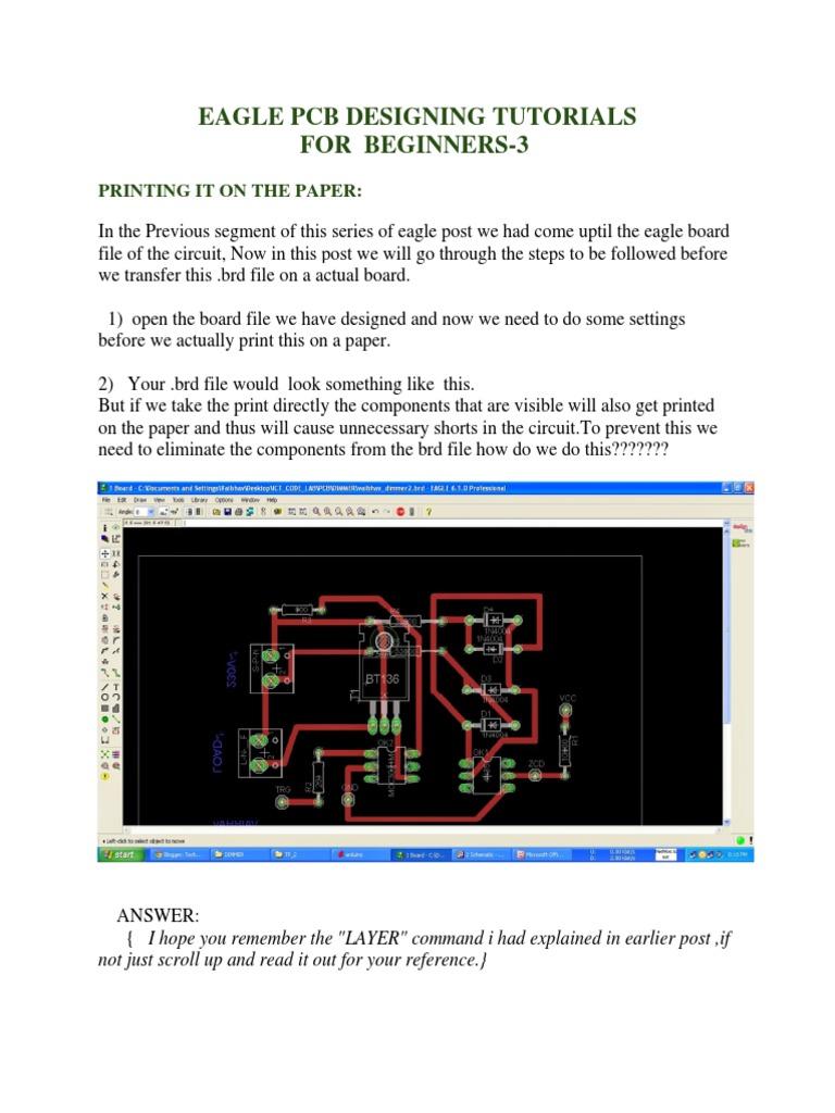EAGLE Printing | Printed Circuit Board | Media Technology