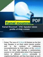 Kamal Moumneh - FNC Speaker raises profile of Arab women