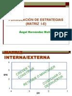 GEO Formulacion de Estrategias MATRIZ I E