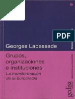 Grupos Organizaciones e Instituciones Lapassade
