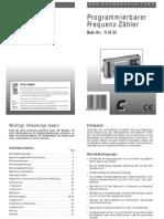 115525 an 01 de ProgrammProgrammierbarer Frequenz Zaehlerierbarer Frequenz Zaehler