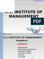 R.V. Institute of Management Bangalore|MBA in Bangalore