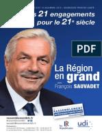 Programme Régionales 2015 - François Sauvadet
