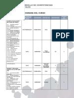Cronograma Del Curso Desarollo de Competencias Digitales