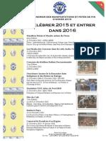 CALENDRIER DES MANIFESTATIONS ET FETES DE FIN D'ANNEE 2015