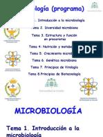Tema 1. Introducción a La Microbiologia