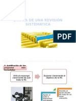 Etapas de Una Revisión Sistemática