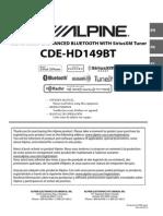 Alpine Cde-hd149bt Español
