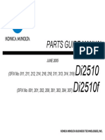 Parts List for Konica Minolta Di2510