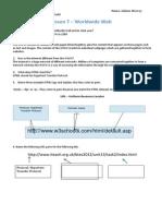 u1l7 worldwide web worksheet