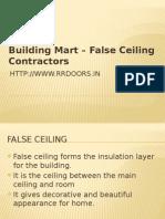 False Ceiling Contractors in Chennai - RR Doors