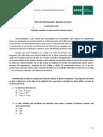 1ª PEC Diseño de investigación y análisis de datos 2015