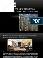 Tallest and most Remarkable Residential structures in Gurgaon.pptx