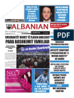 The Albanian newspaper 25th of November 2015