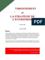 l'Environnement Et La Strategie d'Entreprise