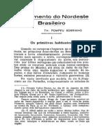 Povoamento do Nordeste Brasileiro