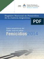 Registro Nacional de Femicidios 2014