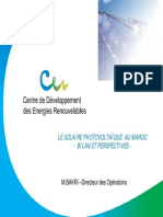 Le Solaire Photovoltaique Au Maroc