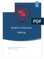 Models of Decision Making MIS