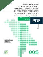 Studiu_Accesul Si Calitatea Serviciilor Medicale Spitalicesti in RM