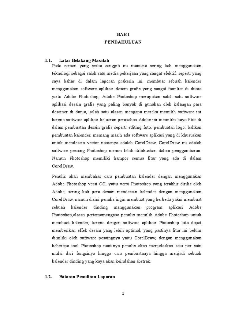 Bab 1 Pendahuluan Laporan Prakerin Smk Jurusan Multimedia Smk Negeri Sukoharjo