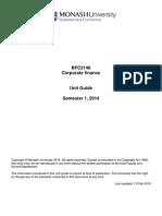 Corp Fi Unit Guide