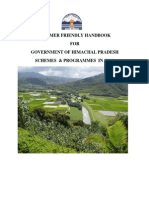 HP Agriculture Schemes Programmes 2014 Hp