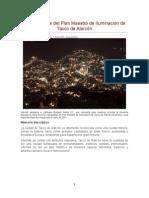 Segunda Fase Plan Maestro Iluminación de Taxco Mexico