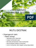 Standarisasi Parameter Ekstrak Fito