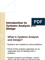 Introduction to system analysis and design (slides)