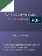 administrasi kesehatan
