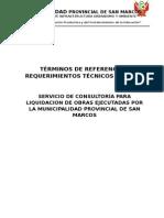 Tdr Liquidaciones Obras 2014 2015