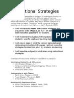 instructional strategies beliefs