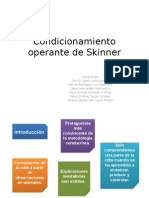 Condicionamiento Operante de Skinner