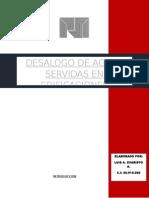 Desalogo de Aguas Servidas en Edificaciones l.e