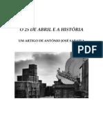 António José Saraiva e o 25 de Abril