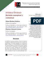 Icono14. Nº15. Interactividad. Revisión conceptual y contextual