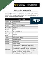Srinivasa Ramanujan 503