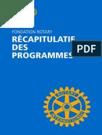 Fondation Rotary Recapitulatif Des Programmes