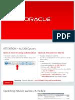 Personalizaciones Oaf Para Eam Mfg Eam Advisor Webcast 2014 0821