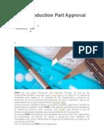 PPAP Production Part Approval Process