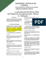 3. Guía Para La Presentación Del Informe Final Del Trabajo de Investigación Para Grado Macas