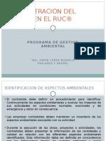 ADMINISTRACION DEL RIESGO EN EL RUC® COMPONENTE AMBIENTAL SEMINARIO CORSALUD.ppsx