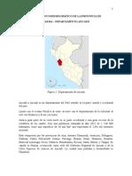 Estudio sociodemogáfico provincia de Casma