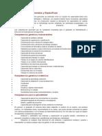 Competencias Generales y Específicas