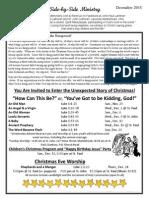 Newsletter, December, 2015