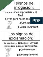 Los signos de interrogación y exclamación