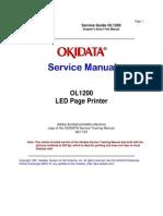 Okidata OL 1200 Service Manual