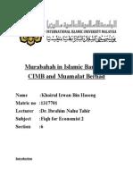 Murabahah in Islamic Banking